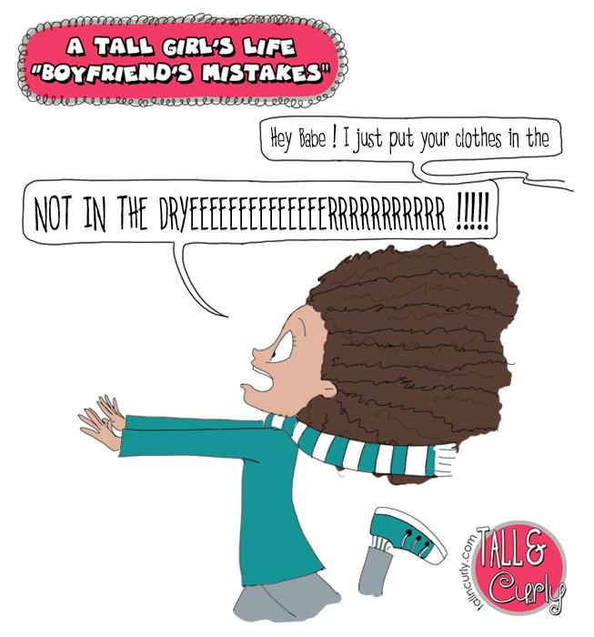 A tall girl's life : Boyfriend's mistakes