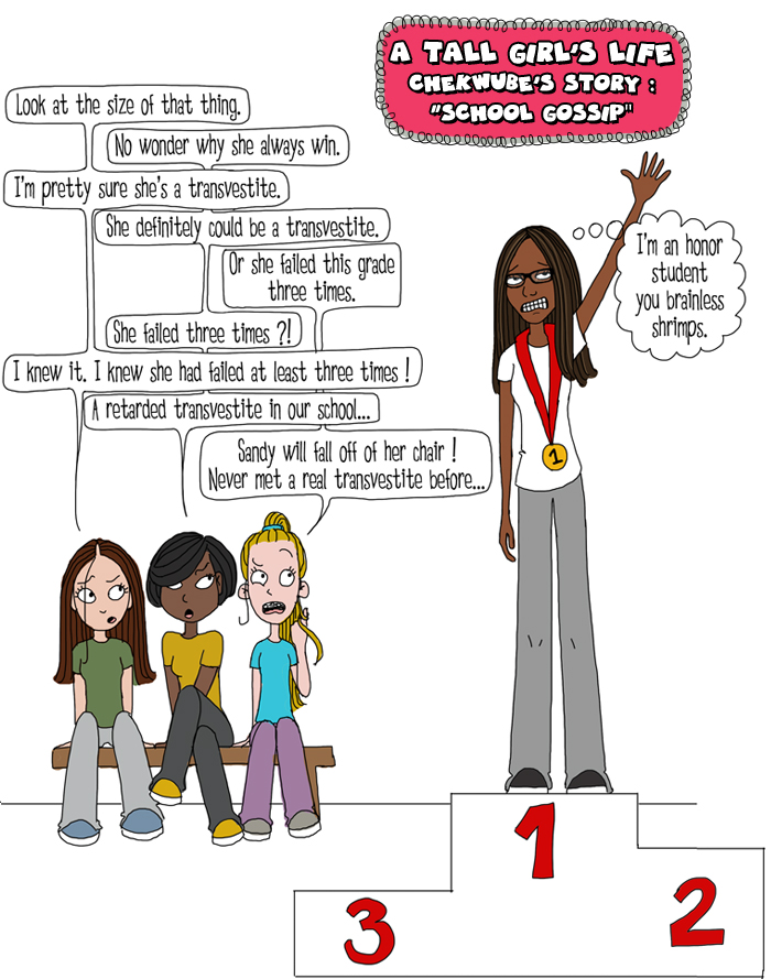 Tall N Curly - A tall girl's life - School gossip