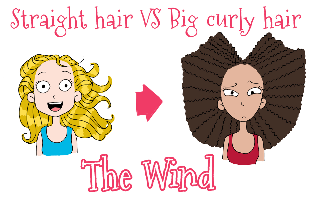 Curly Vs Straight Pubic Hair Straight Hair Vs Big Curly