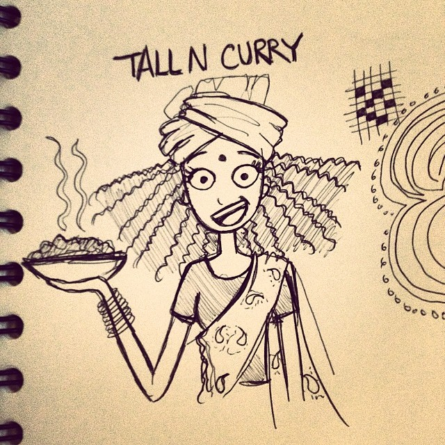 Doodling on the phone (???) ? tallncurly.com #tallncurly
