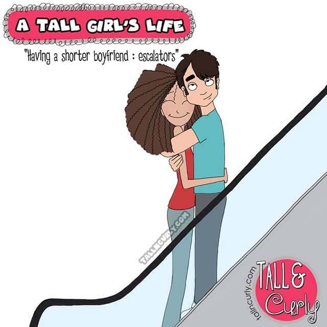 New comicS on the blog! :) How do tall girls deal with their dream of finding the perfect TALL man? What happens if they don't?? Check it out! ;) #tallgirlproblems #tallncurly tallncurly.com