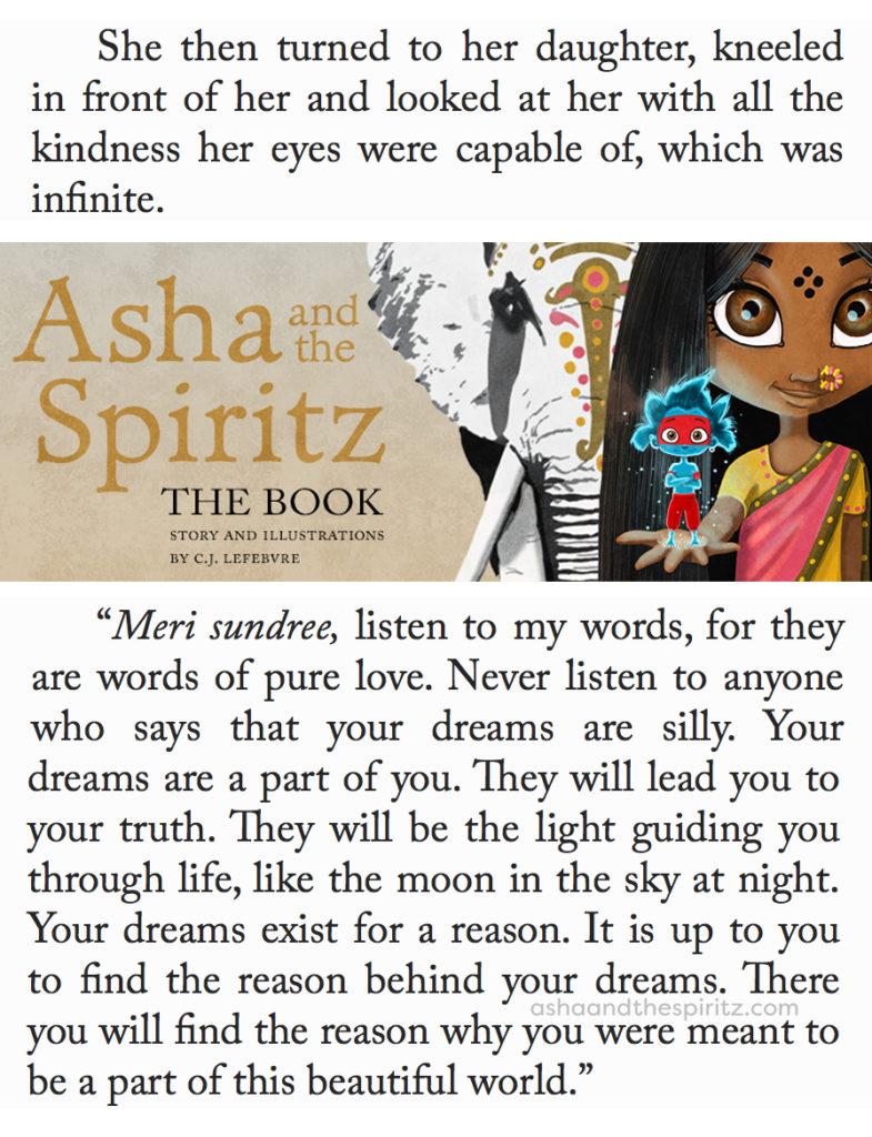 Asha and the Spiritz - excerpt #childrensbooks #kidsbooks #books #booksforkids #literature #reading #ashaandthespiritz #book #read #illustrated #illustratedbook