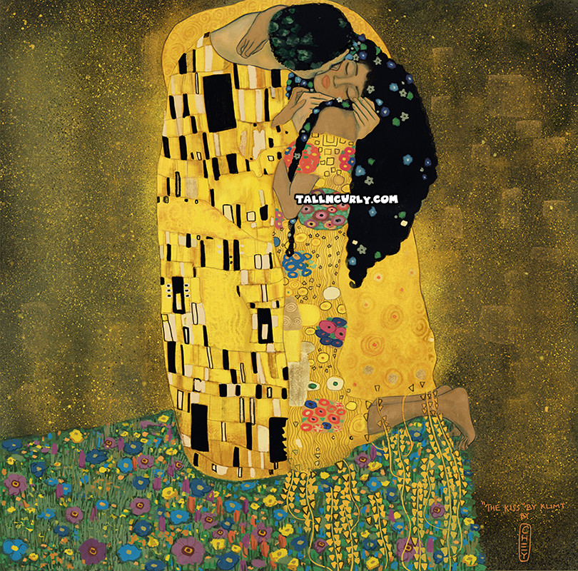Tall N Curly - The Kiss by Klimt by Cheyan Lefebvre #stylechallenge