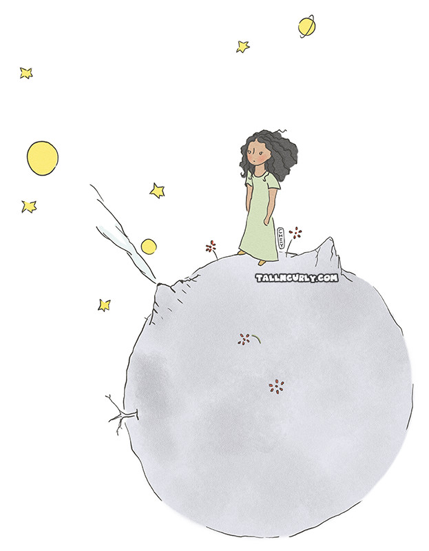 Tall N Curly - The Little Prince #stylechallenge