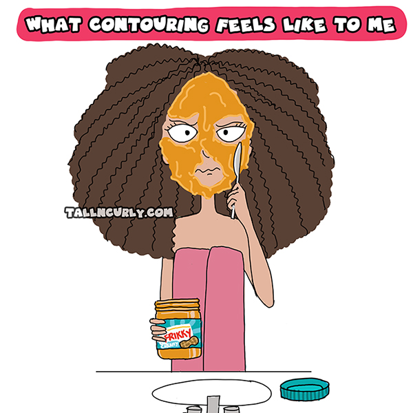 Tall N Curly - The contouring experiment #2
