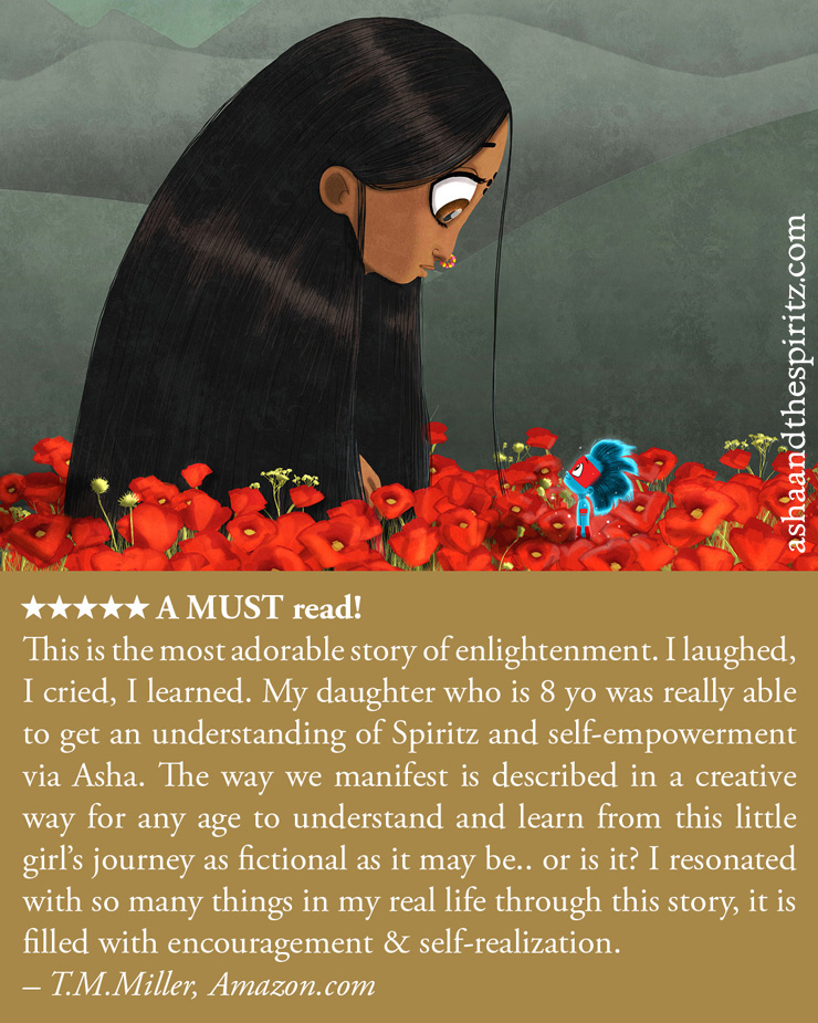 Asha and the Spiritz - #book #books #booksforchildren #booksforkids #childrenbooks #read #reading #novel #christmas #christmasgifts #karma #spirituality #illustrated #illustration #tallncurly #selfempowerment #enlightenment #goodreads #booklover