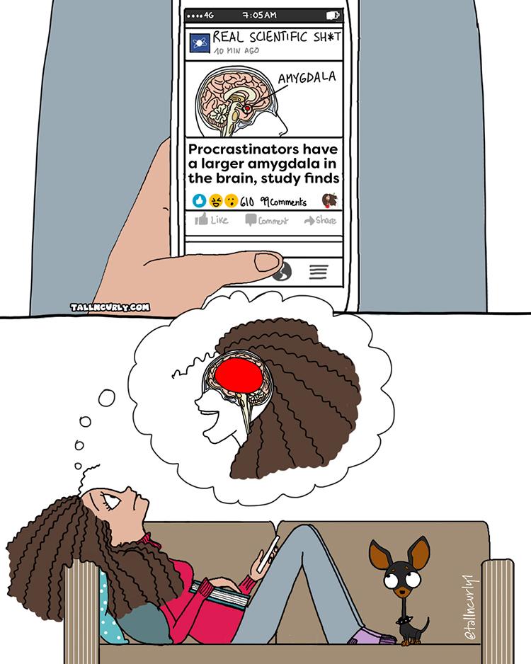 Procrastinators have a larger amygdala in the brain, study finds