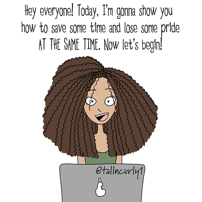 Tall N Curly - #tall #tallgirls #tallgirl #tallwomen #tallpeople #curlygirls #curlyhair #naturalhair #blackhair #selflove #comics #curls #comicstrip #cartoon #tallncurly #curls #afro #locs #webcomic #humor #comic #saddlebags
